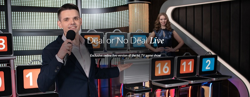 Live casino game shows (na obrázku Deal Or No Deal)