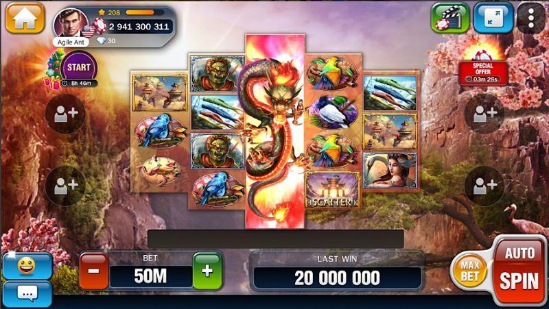 Ukázka ze hry Huuuge Casino