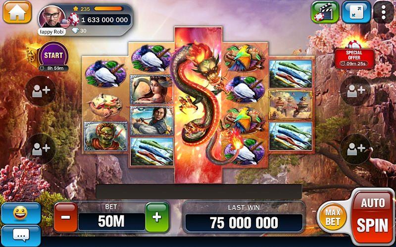 Screen z automatu zdarma ve hře Huuuge Casino