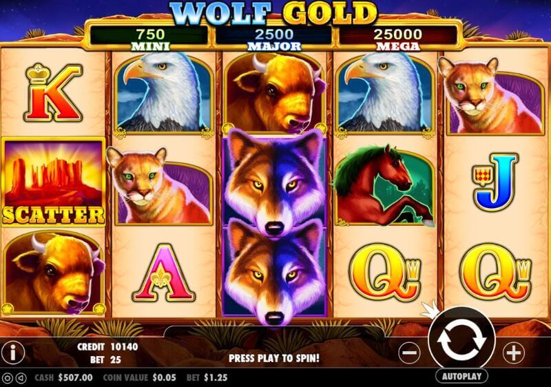 Free spiny na automat Wolf Gold
