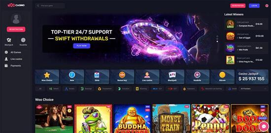bitcoin casino WooCasino