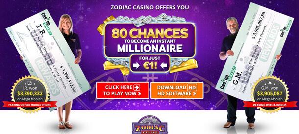 80 free spinů na progresivní jackpot automaty od Casina Zodiac