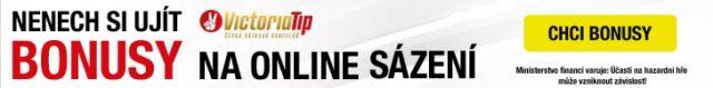Online sázení v sázkové kanceláři VictoriaTip s bonusem 250 KČ