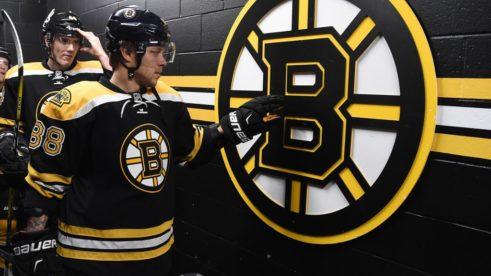 Dávid Pastrňák v drese Bostonu Bruins