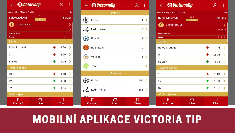 Nova mobilni aplikace Victoria Tip IOS Android