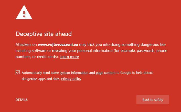 Vojtovo Sázení podvod webové stránky varování