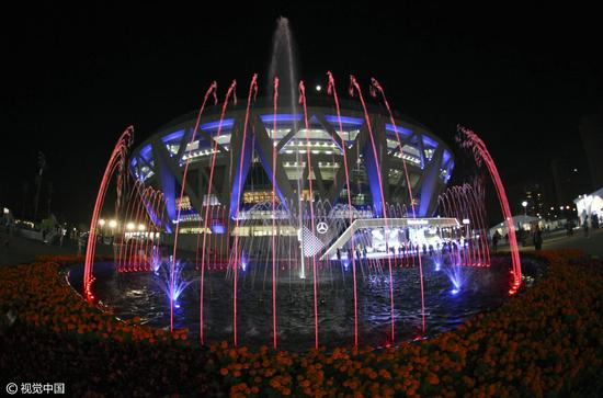 WTA Peking Stadion ve tvaru diamantu