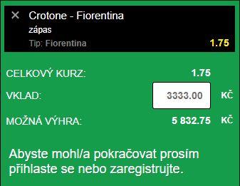 Free tipy na fotbal. Crotone Fiorentina