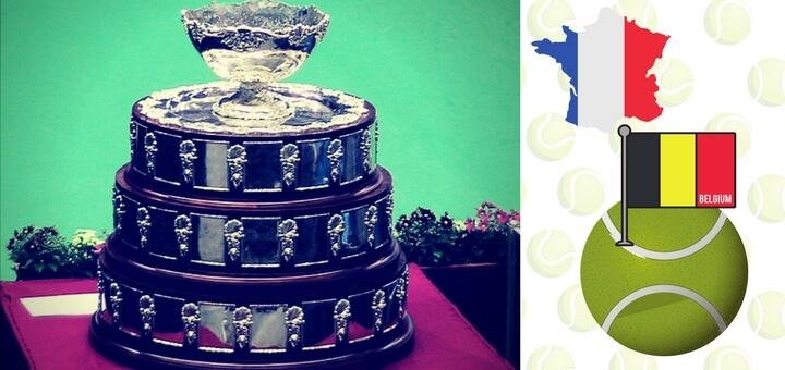 Davis cup 2017. finale. Francie Belgie