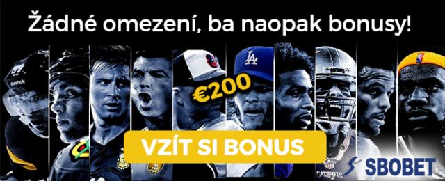 Vem si bonus v hodnotě €200 v sázkové kanceláři SBOBET