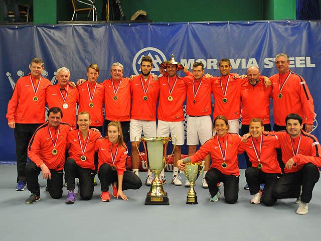První místo získal tým TK Agrofert Prostějov v roce 2016