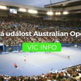 Tenisová událost Australian Open 2018
