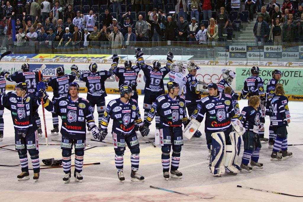 Liberec se raduje z výhry Extraligi