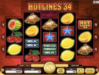 Kajot automaty - Hotlines 34