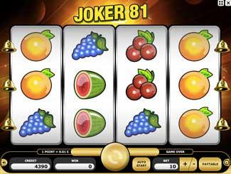 Kajot automaty - Joker 81