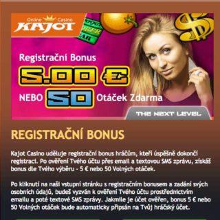 Bonus bez nutnosti vkladu v Kajot casino