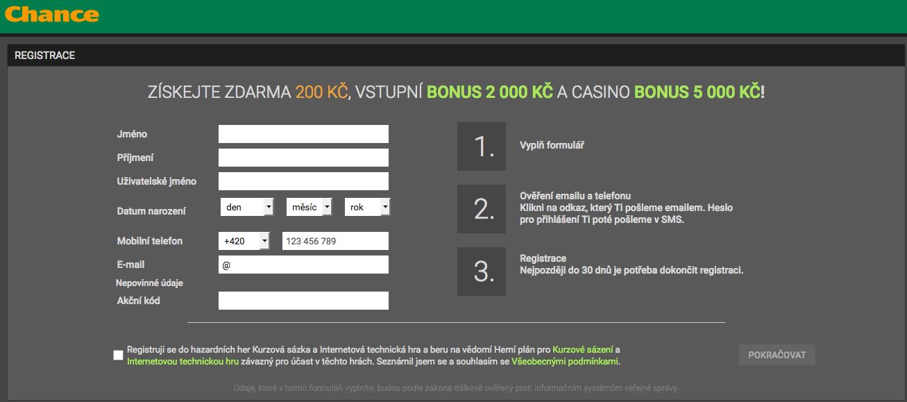 Vyzkoušej si hraní hazardních her v casinu Chance Vegas