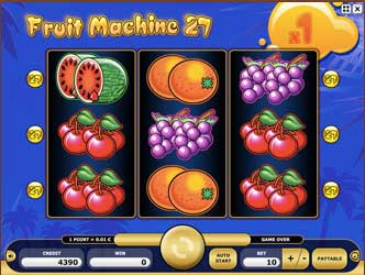 Online automat Kajot Fruit Machine27