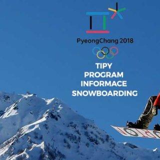 Program a informace o Snowboardingu ZOH 2018