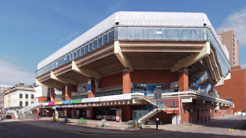 Preston Guild Hall - místo konání Snooker World Grand Prix
