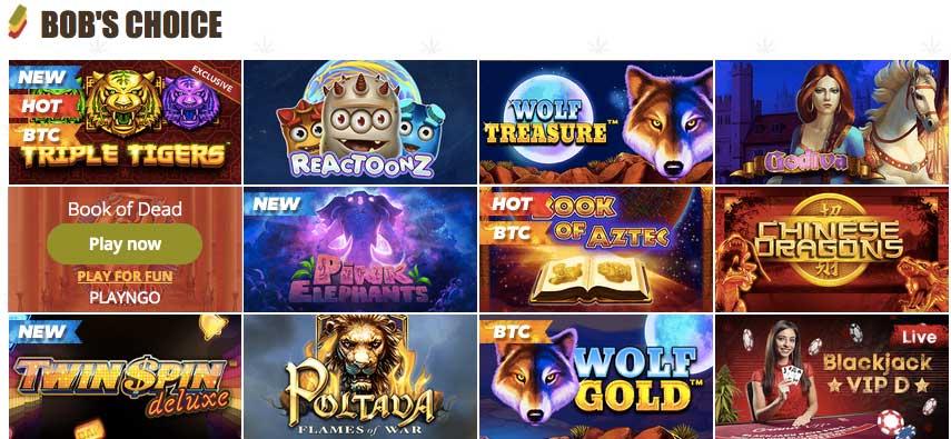 Automaty online v Bob casino
