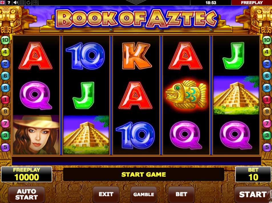 Herní automat Book Of Aztec zdarma!
